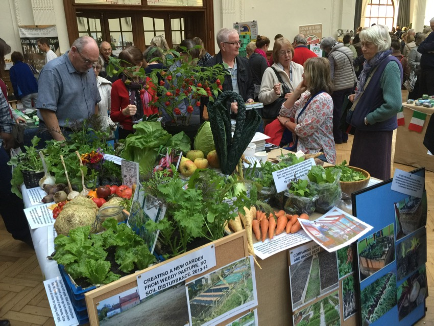 No dig veg and books at the RHS London show, November 1st 2015