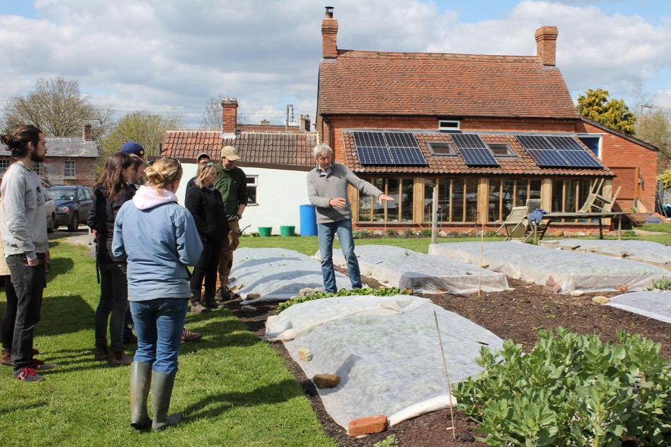 Many groups have visited Homeacres, these are  organic growers from Bath and Bristol
