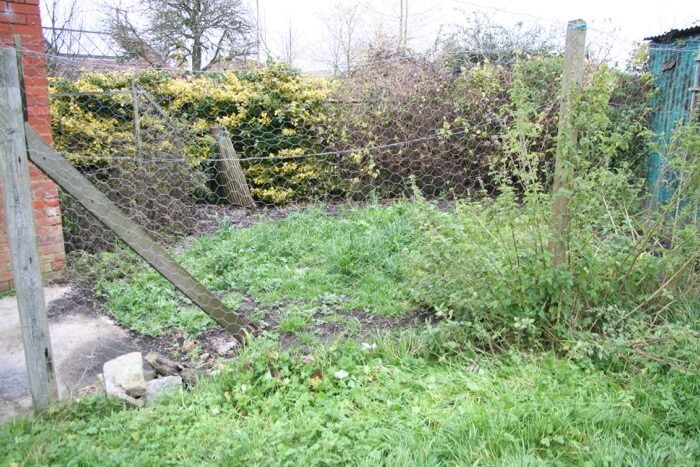 Small garden very weedy November '12