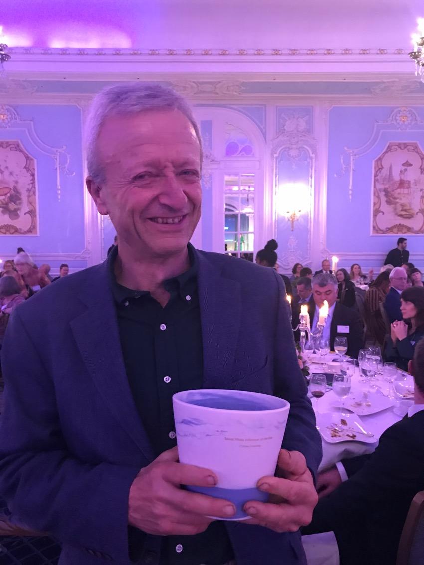 Charles with his social media award