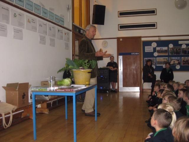 CHarles teaching primary school students