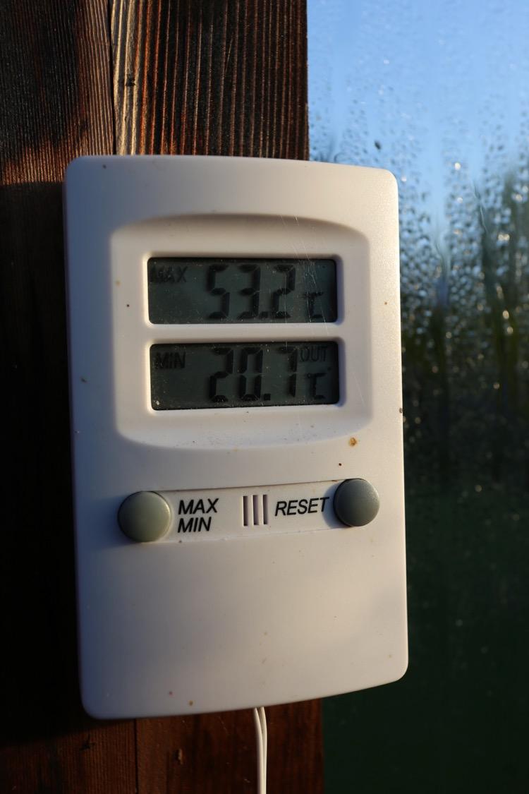 Hotbed temperatures