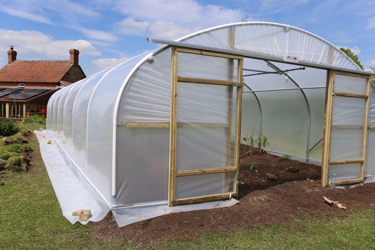 New polytunnel in the same place