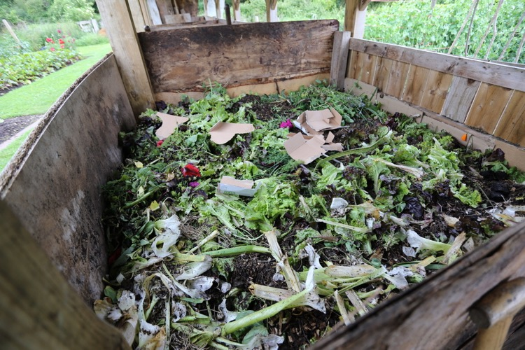Compost heap nearing completion